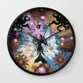 Harmony, Dancing with Octopus Wall Clock