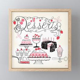 Midcentury Recipes Make Sweet And Lovely Vintage Desserts Framed Mini Art Print
