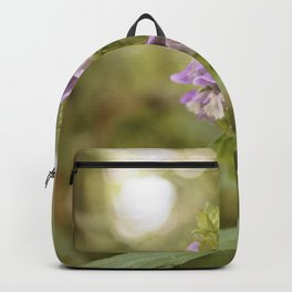Purple Flowers in Sunrise (Vintage) Backpack