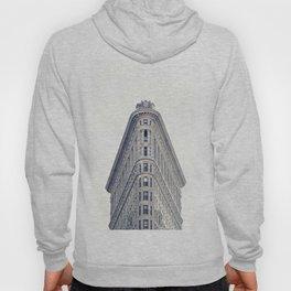 New York, The Flatiron on black and white Hoody