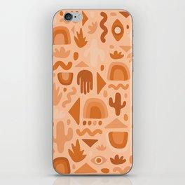 Orange Cutout Print iPhone Skin