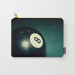 Eight Ball-Teal Carry-All Pouch