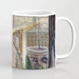 Madame Monet Embroidering (1875) by Claude Monet Coffee Mug