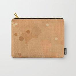 Peach Cobbler Bubble Dot Color Accent Carry-All Pouch