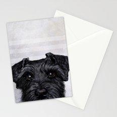 Black Schnauzer original painting print Stationery Cards