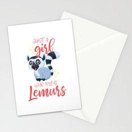 Lemur Girl Stationery Cards