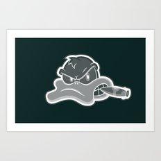 Smoking Duck Transparent Art Print