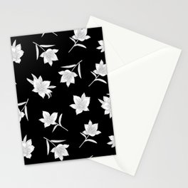 Black & White Botanical Floral Pattern Stationery Cards