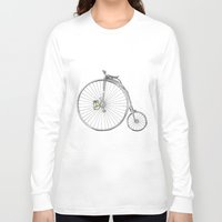 bicycle Long Sleeve T-shirts featuring Bicycle by Michelle Krasny