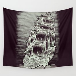 Caleuche Ghost Pirate Ship Variant Wall Tapestry
