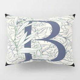 Monogram B Vines & Flowers Pillow Sham