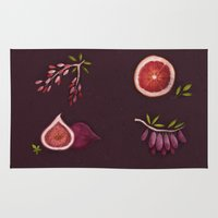 fruits Area & Throw Rugs featuring Fruits by Oilikki