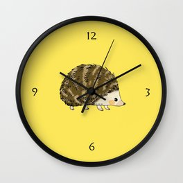 Adorable wild animal hedgehog Wall Clock
