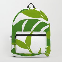 Simply Tropical Leaves with White background Backpack