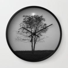 Moon over a tree Wall Clock