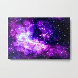 Purple Galaxy : Celestial Fireworks Metal Print