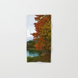 Fall Colours Along the Columbia River in Revelstoke BC Hand & Bath Towel