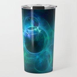 Aqua Blue and Green Circles 1 Travel Mug