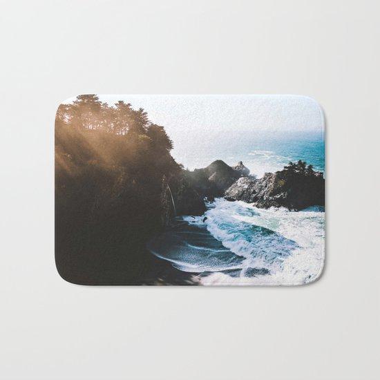 Cliff, Wave, and Beach Bath Mat