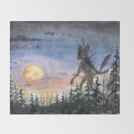 Forest guardian Throw Blanket