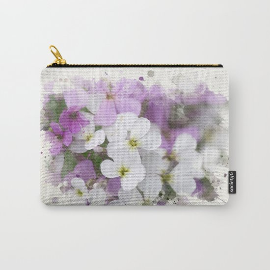 Watercolor Wildflower Art Carry-All Pouch