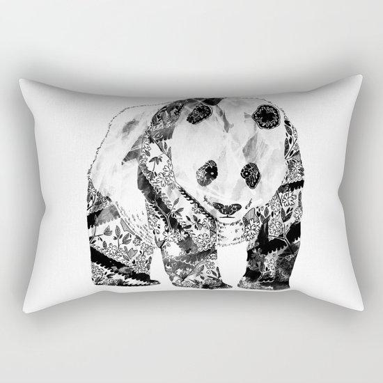Tattooed Panda Rectangular Pillow