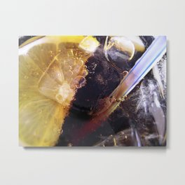 Lemon and Straw Metal Print