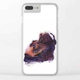 Dogface Boxer Clear iPhone Case