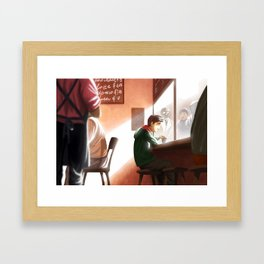 Espresso on Degraves St Framed Art Print