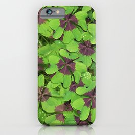 Lucky Clover St Patricks Day Green Shamrock Pattern iPhone Case