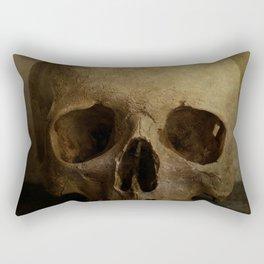 Male skull in retro style Rectangular Pillow