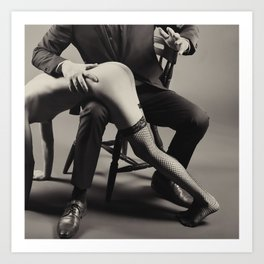 Photograph Spanking Art - Nude woman spanked Art Print