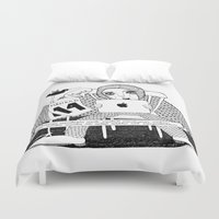swedish Duvet Covers featuring Swedish Alliteration by Karin Ohlsson