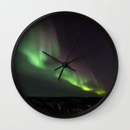 Northern Green Light Wall Clock