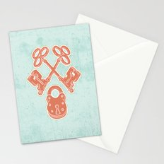 Keys and Lock Stationery Cards