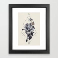 Geo Rose II Framed Art Print