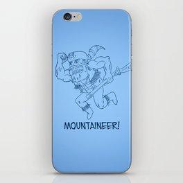 Mountaineer! (blue) iPhone Skin