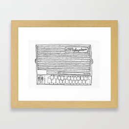 Stylophone - good wood Framed Art Print