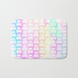 Stormtroopers on Pastel Watercolor, Abstract Watercolor, Dark Side Bath Mat