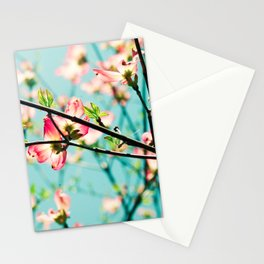 Aqua Spring Stationery Cards