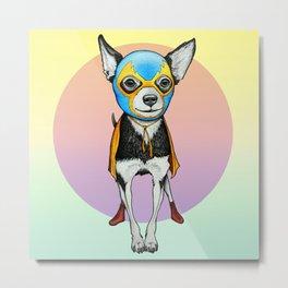 Chihuahua - Luchador  Metal Print