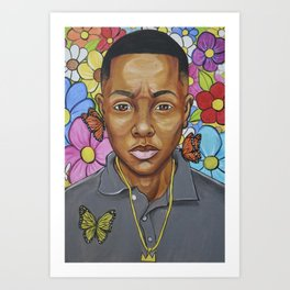 A flower from the concrete (Young King) Art Print