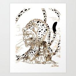 Monstre & Fillette / Monster & Kid Art Print