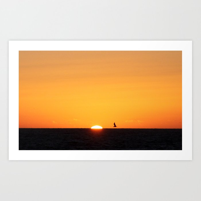 every moment is different, every sunset is unique... Art Print