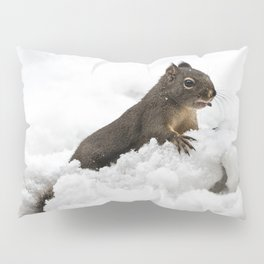 Winter Squirrel II -  Cute Wildlife Animals Nature Photography Pillow Sham