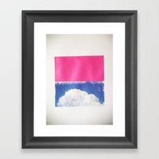 SKY/PNK Framed Art Print