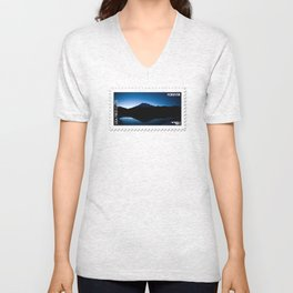 Mt Rainier @ Sunset Unisex V-Neck
