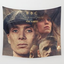 Peaky Blinders, Cillian Murphy, Thomas Shelby, BBC Tv series, Tom Hardy, Annabelle Wallis Wall Tapestry