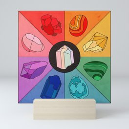 Crystal Color Wheel Mini Art Print