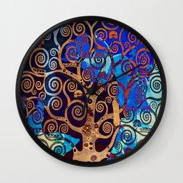Klimt tree stylization Wall Clock